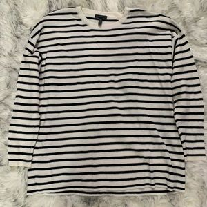 Women's Eileen Fisher Black and White Sweater XL